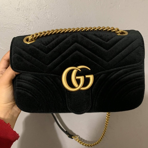 52bd8bf4c75e5b Gucci Bags   Gg Marmont Black Shoulder Bag   Poshmark